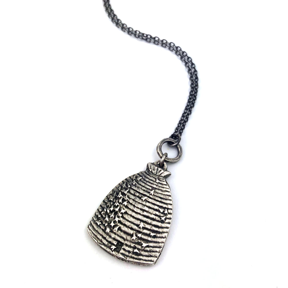 BEEHIVE Victorian Necklace - SILVER