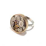 Round Clockwork Ring - Bronze Bezel