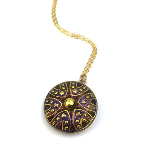 Bohemian Plum Necklace - Gold