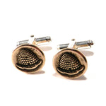 BEEHIVE Antique Button Cufflinks - BRONZE
