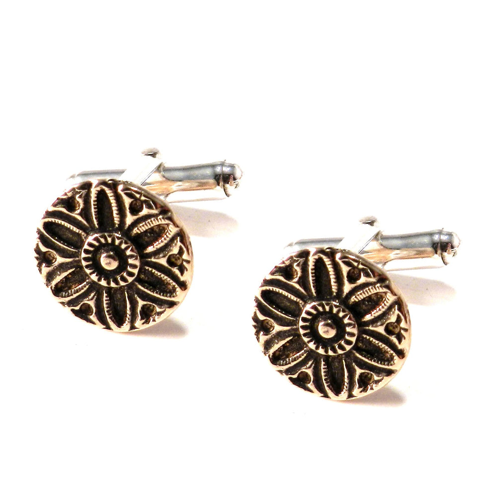 SUNLIGHT Antique Button Cufflinks - BRONZE