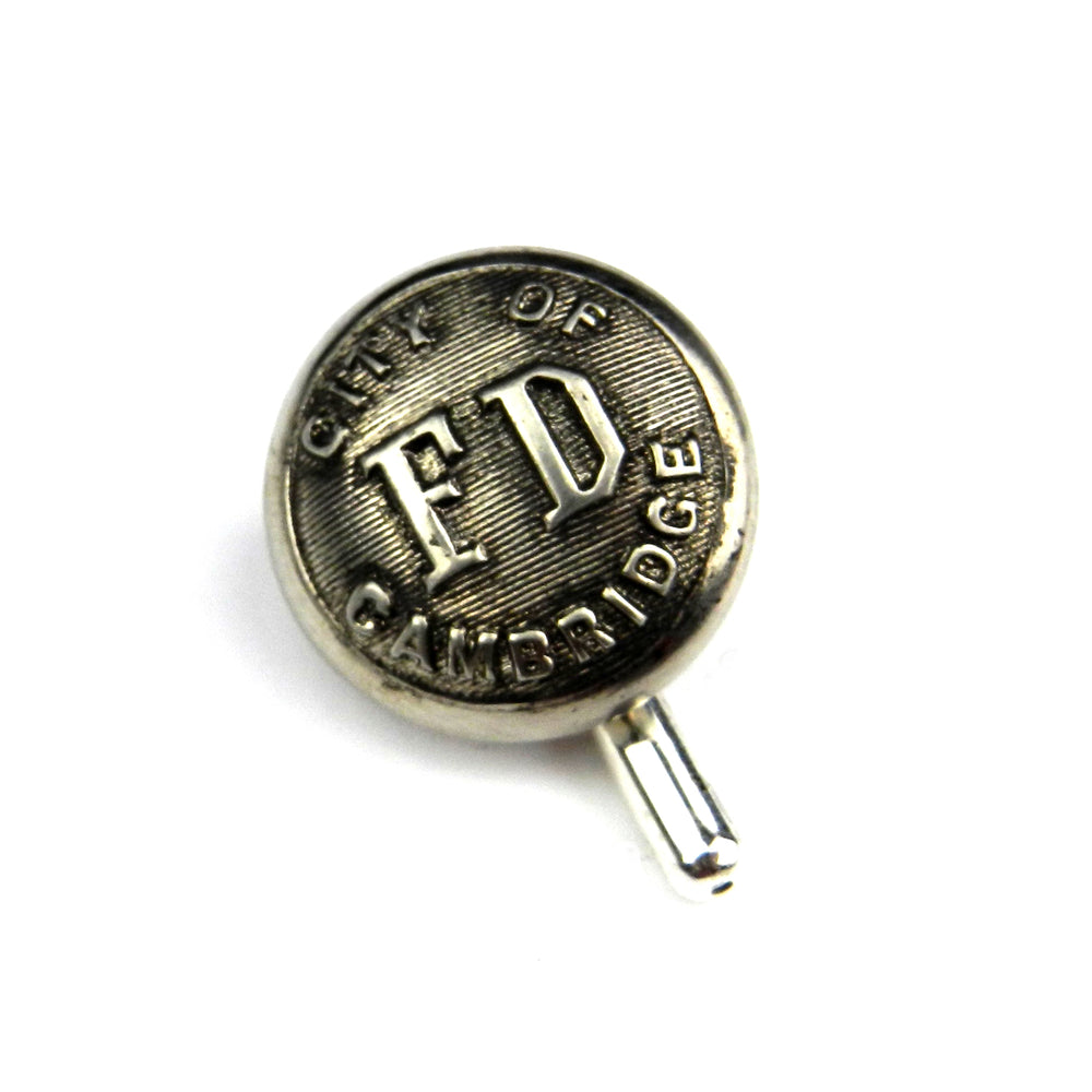 Cambridge Fire Department - Vintage Button Lapel Pin Hat Pin - Steel