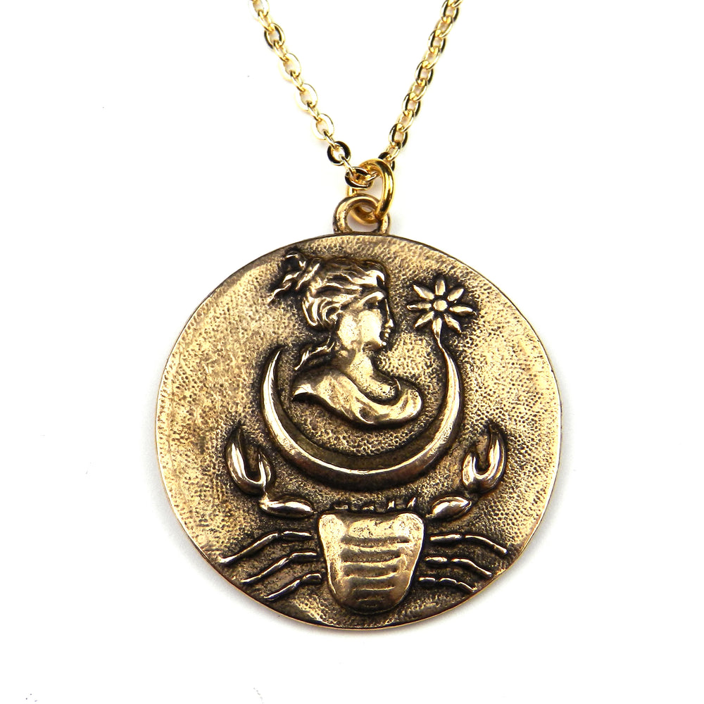 CANCER - Victorian Zodiac Button Necklace