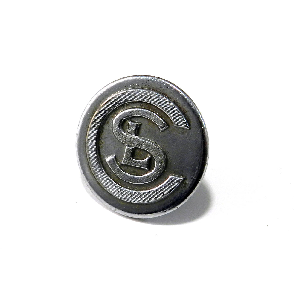 Chicago Short Lines Vintage Railroad Button Hat Pin / Lapel Pin