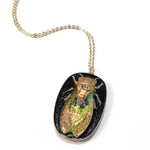 CICADA Vintage Button Necklace - Sunrise - GOLD