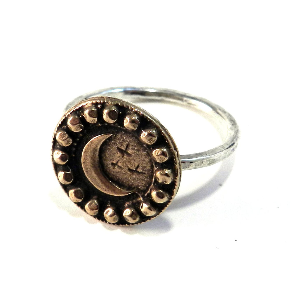 CRESCENT MOON Classic Ring - MIXED METAL