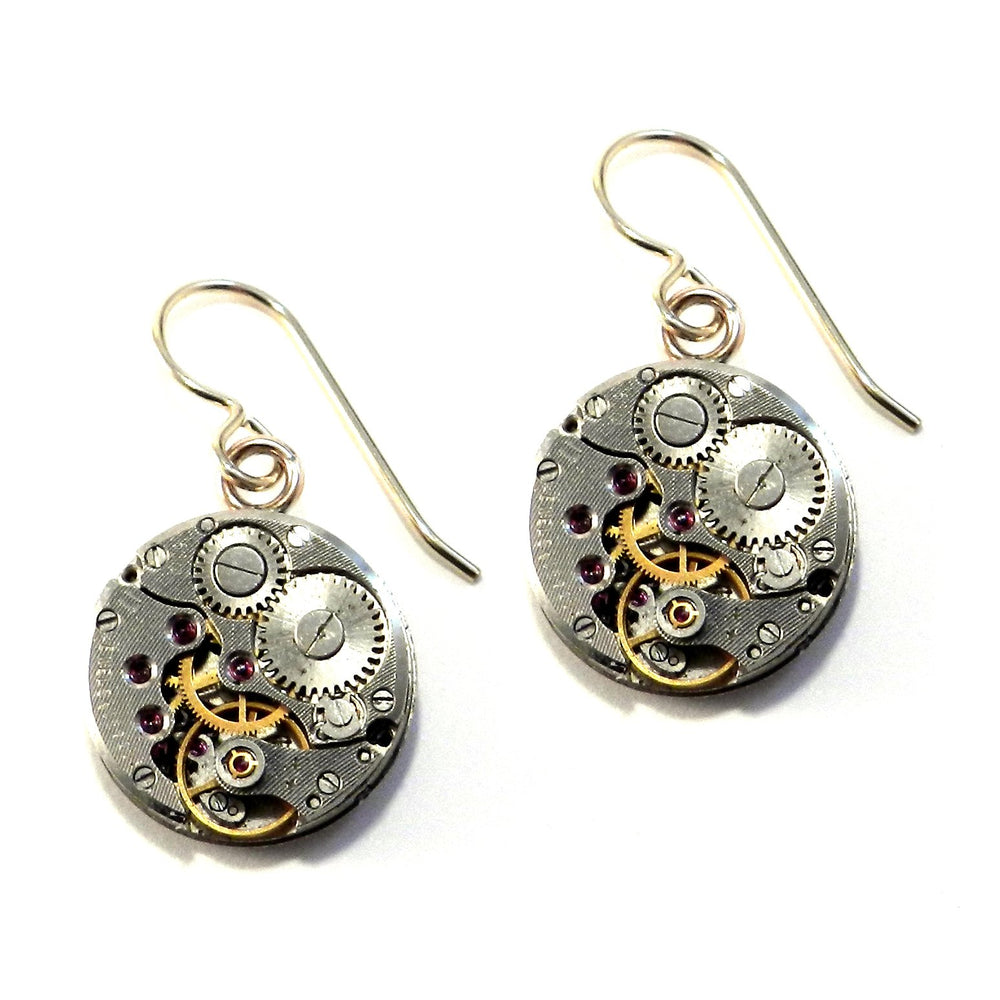 CLOCKWORK Round Earrings - GOLD