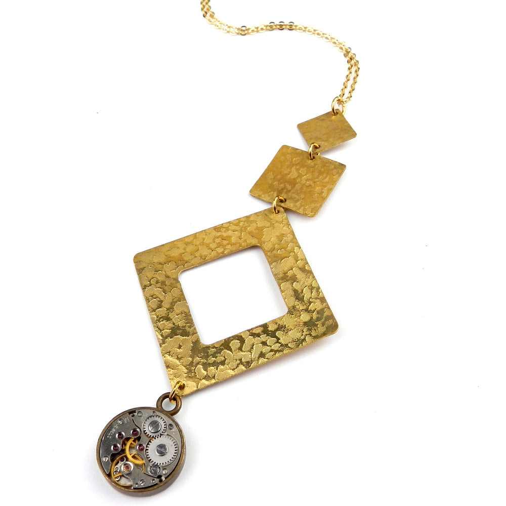 CLOCKWORK Pinnacle Necklace - GOLD