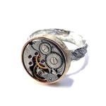 CLOCKWORK Statement Ring - MIXED METAL