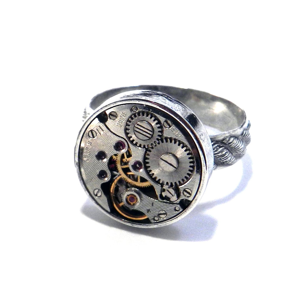 CLOCKWORK Statement Ring - SILVER