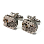 Clockwork Cufflinks - Mechanical Watch Movements