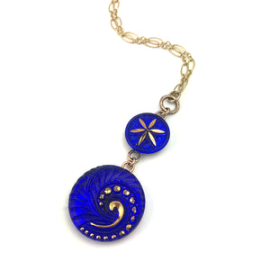 COBALT SPIRAL Double Necklace - GOLD