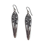 REDWOOD TREE Vintage Teaspoon Earrings - SILVER