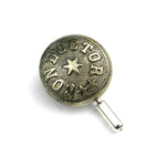 Conductor Vintage Railroad Button Hat Pin / Lapel Pin - Silver Star