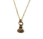 DOVES OF PLINY Vintage Charm Necklace - GOLD