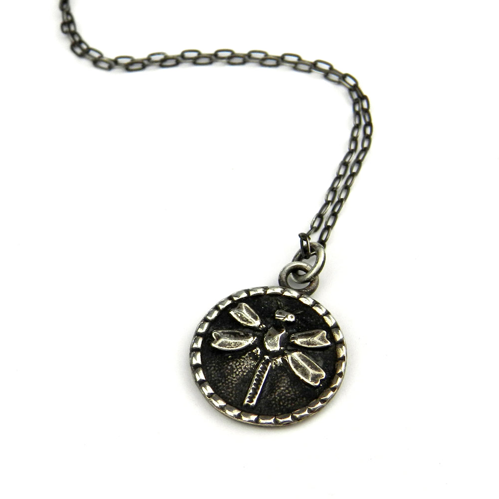 DRAGONFLY (SM) Classic Necklace - SILVER