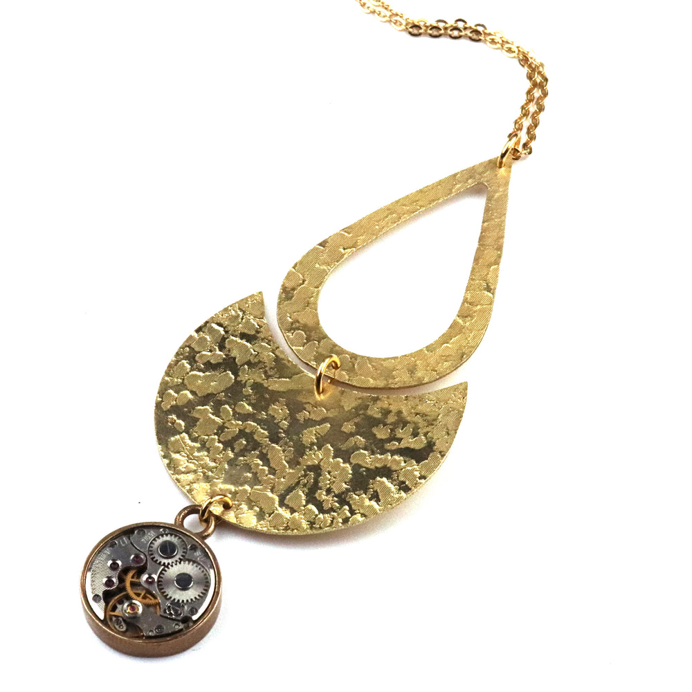 CLOCKWORK ECLIPSE Necklace - GOLD