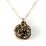 FERN / NAUTILUS Antique Button Necklace - GOLD