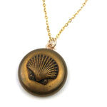 SEASHELL Antique Button Necklace - GOLD
