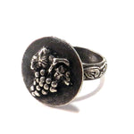 HARVEST GRAPE Statement Ring - SILVER