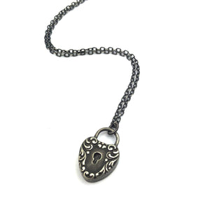 HEART LOCK Classic Necklace - SILVER