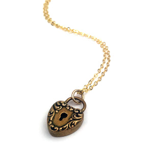 HEART LOCK Classic Necklace - GOLD