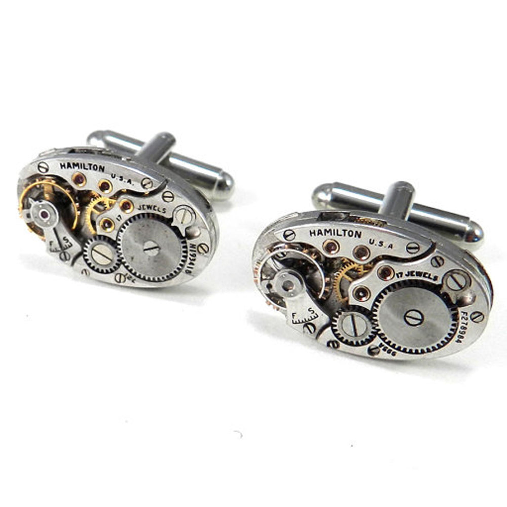 Vintage Watch Movement Cufflinks - Hamilton - Larger