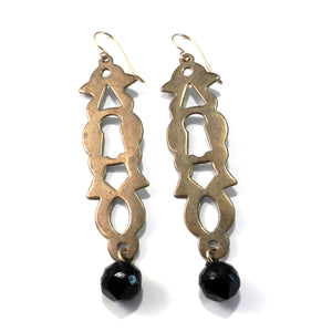 Limited Edition VINTAGE KEYHOLE Earrings - Drop Button