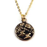 LIGHTNING Vintage Button Necklace - GOLD