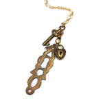 Lock & Key Treasure Charm Necklace - Gold