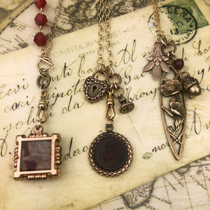 Neoclassical Love Charm Intaglio Necklace
