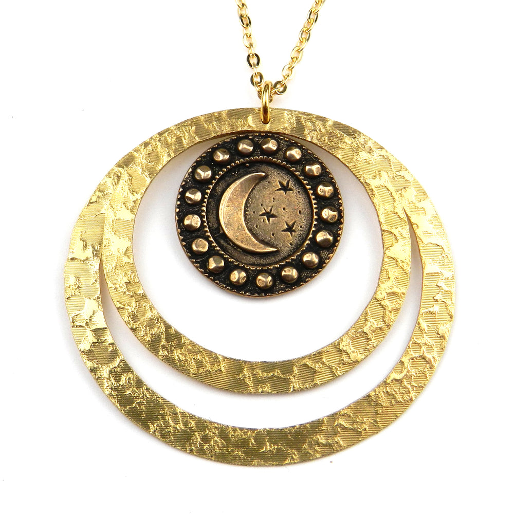 CRESCENT MOON (Lg) Echo Necklace - GOLD