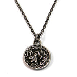 NECTAR Antique Button Necklace - SILVER