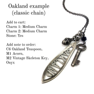 Create your Journey Charm Necklace - Silver CLASSIC Chain