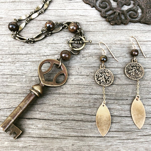 Brunswick Phonograph Key Necklace - Bronzite