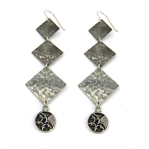 PHOENIX Cascade Earrings - SILVER
