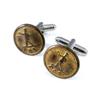 Post Office Uniform Button Cufflinks - Brass