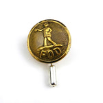 Post Office Department - Vintage Button Hat Pin Lapel Pin - Brass