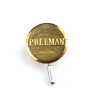 Pullman Railroad Vintage Button Pin - Brass