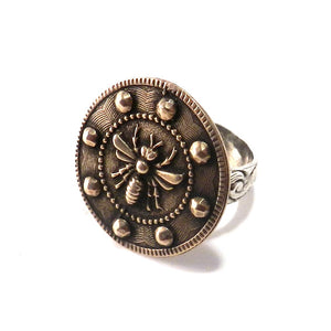 Large QUEEN BEE Statement Ring - MIXED METAL