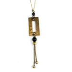PRAGUE Escutcheon Necklace - Black