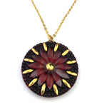 SCARLET & GOLD Vintage Button Circlet Necklace - GOLD