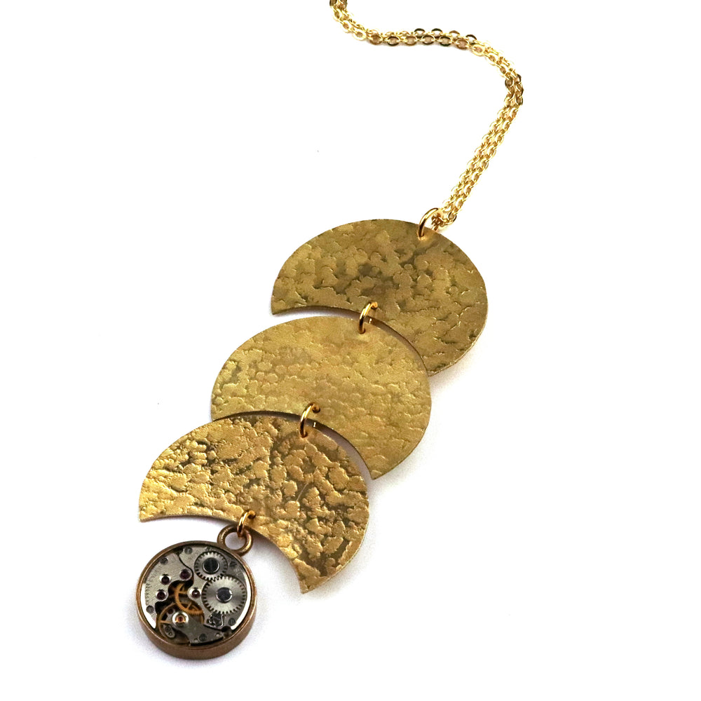 CLOCKWORK REFLECTIONS Necklace - GOLD