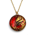 RED TULIP Circlet Necklace - Gold
