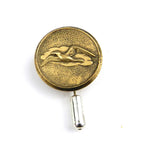 Bird in Flight - Vintage Button Hat Pin - Brass