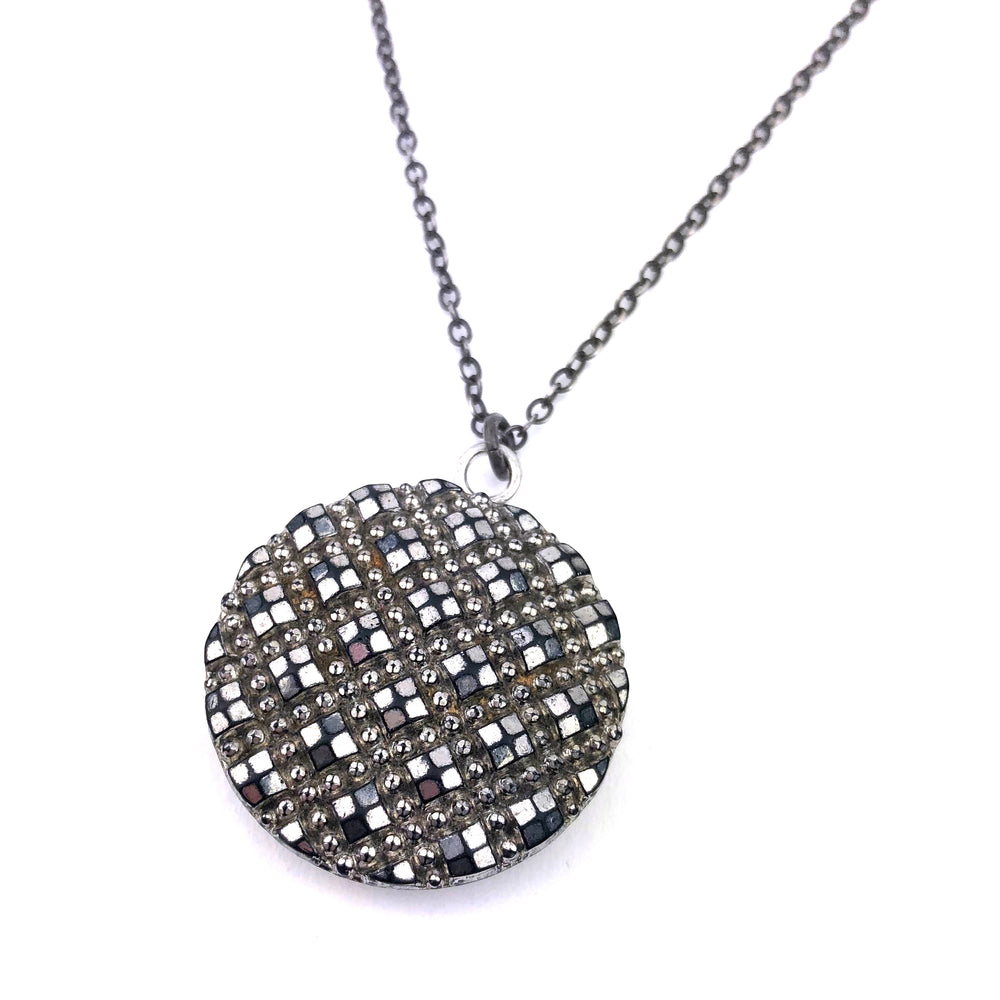 Bohemian Steel Diamonds Necklace - Silver