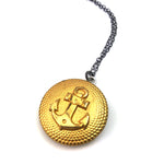 ANCHOR Vintage Button Necklace - Mixed Metal