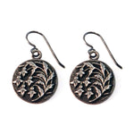 SNOWDROP Vintage Button Earrings - SILVER
