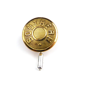 Southern - Railroad Button Lapel Pin Hat Pin - Brass