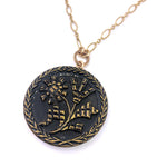 Van Gogh SUNFLOWERS Antique Button Necklace